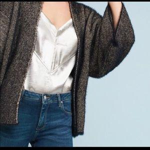 Anthropologie Black and Gold Kimono Sweater